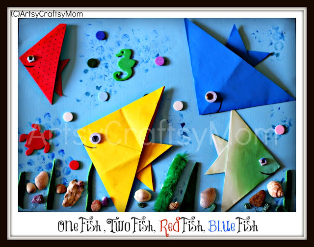 paper origami fishes
