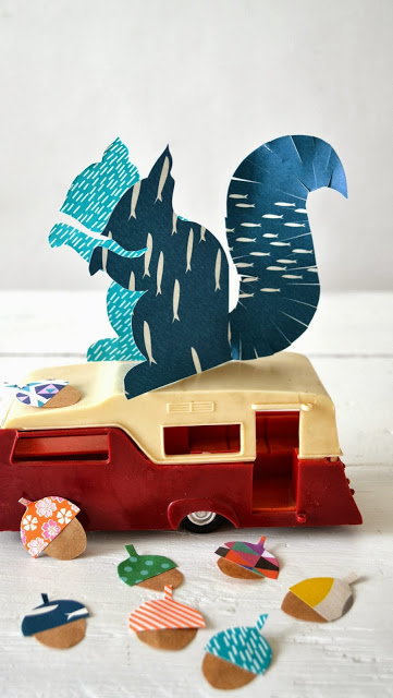 Paper squirrel crafts