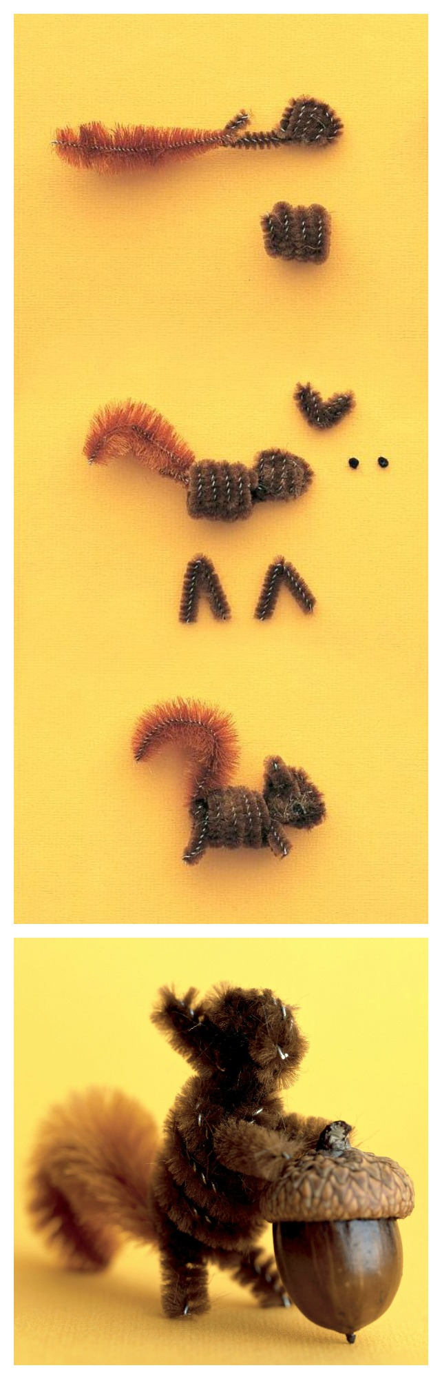 Pipe-cleaner-squirrels