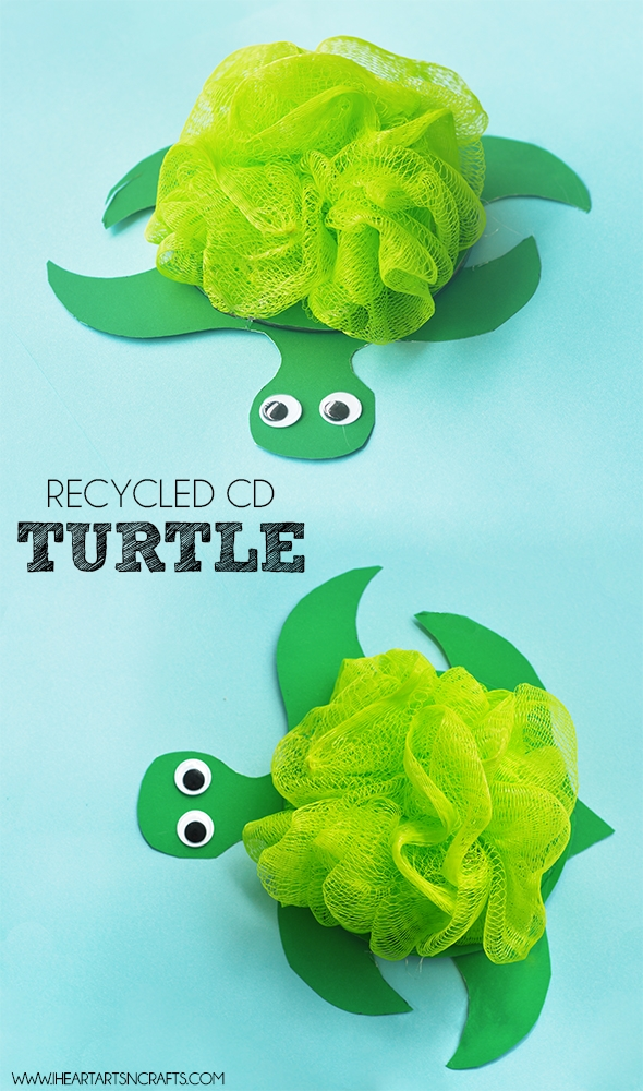 recycle turtle kids craft
