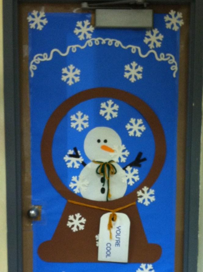 Snowman Entry Door