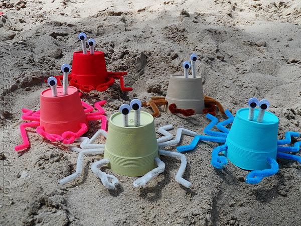 styrofoam cup crabs