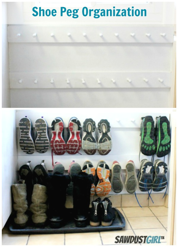 entry organization shoe pegs
