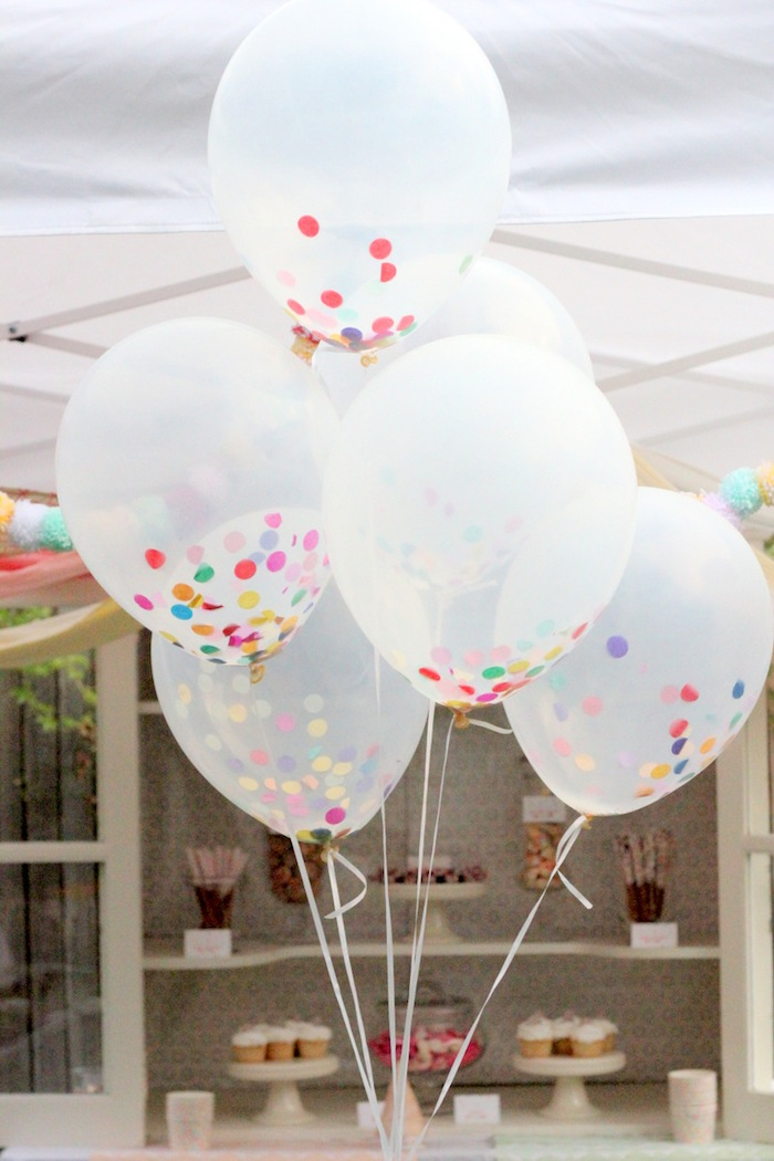 confetti sprinkle balloons