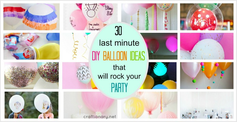 DIY Balloon ideas at craftionary.net