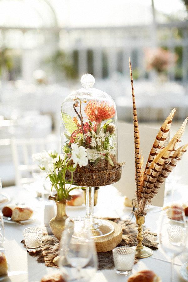 DIY plant cake stand