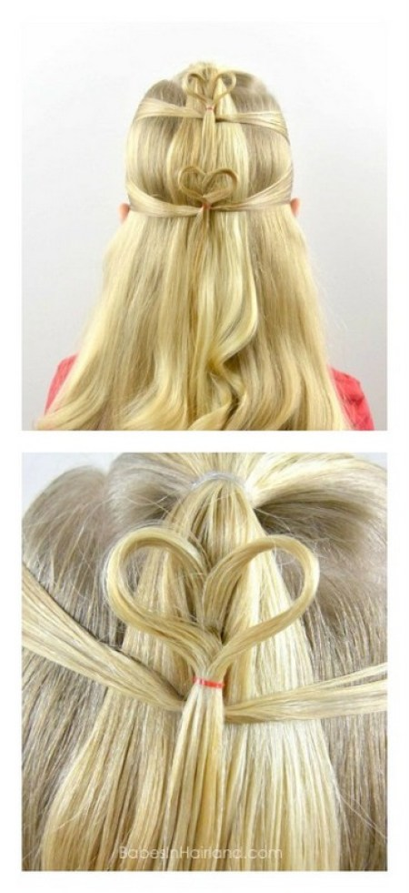 love heart hairstyles