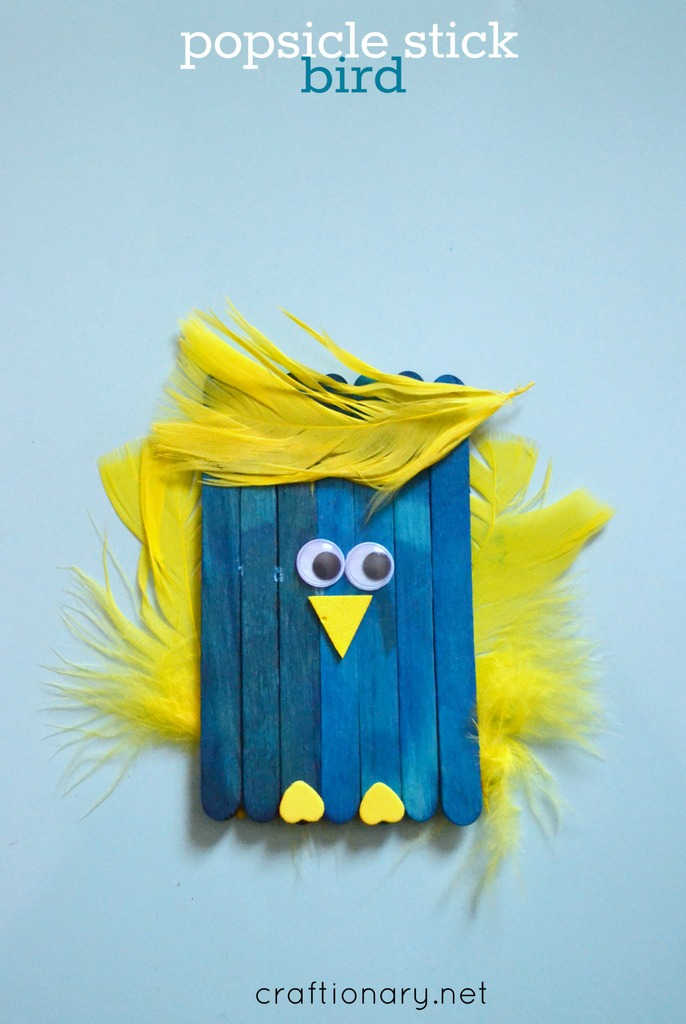 Make DIY bird craft with kids