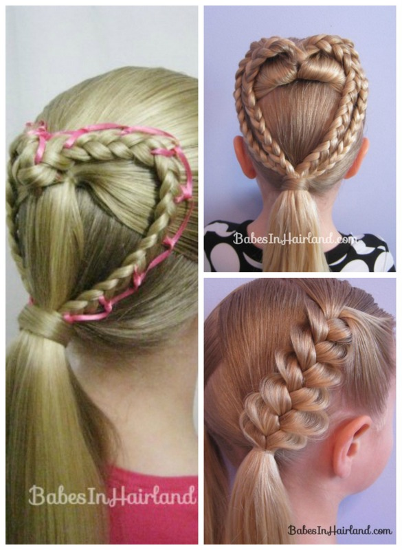Lace braid heart tutorials