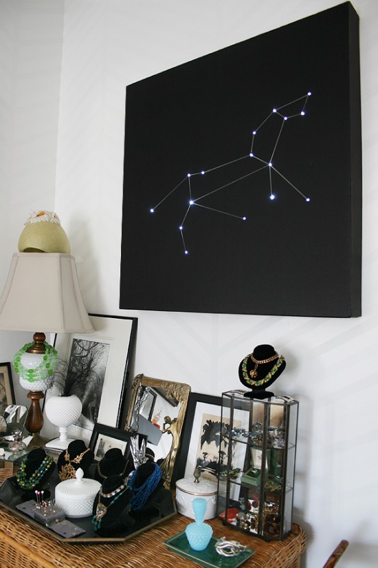 constellation wall art tutorial