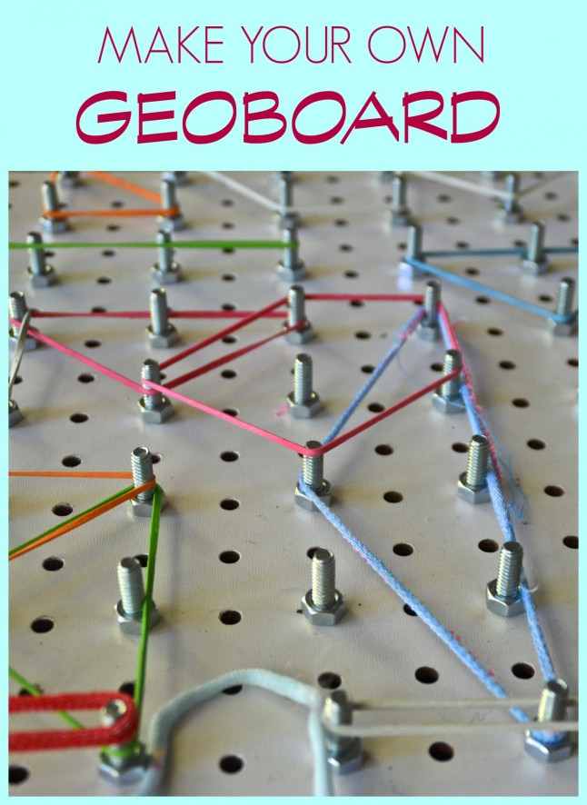 Geo board from pegboard
