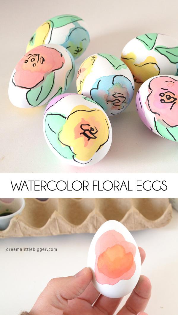 floral dye easter eggs