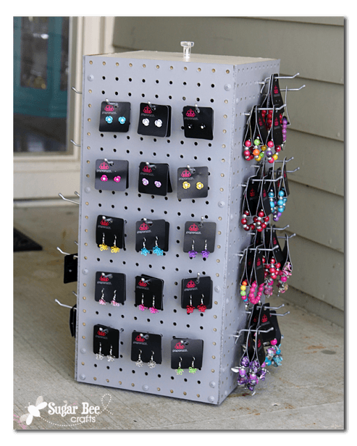 pegboard display rack DIY