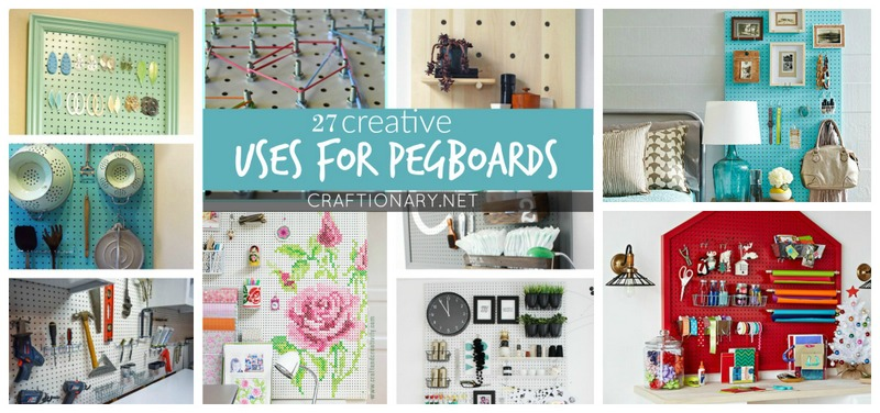 Uses for pegboards at craftionary.net