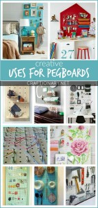 Uses for pegboards