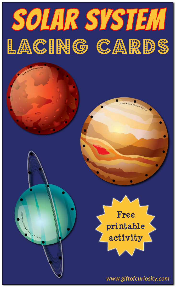 Solar System Lacing Cards