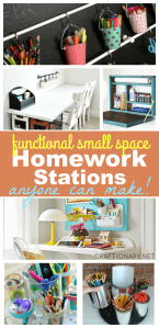 Homework stations for small space that are practical and functional
