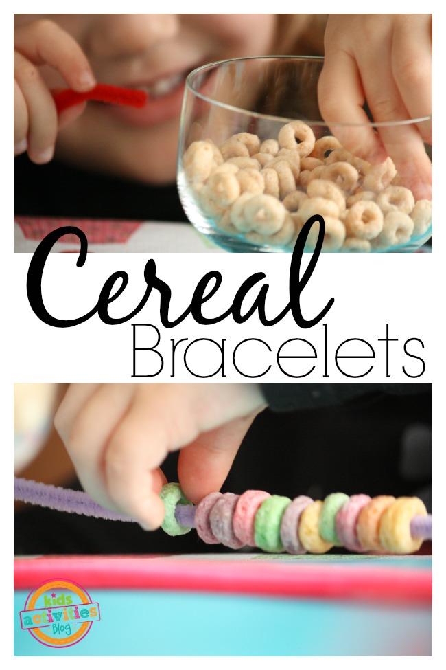 cereal bracelet for preschoolers