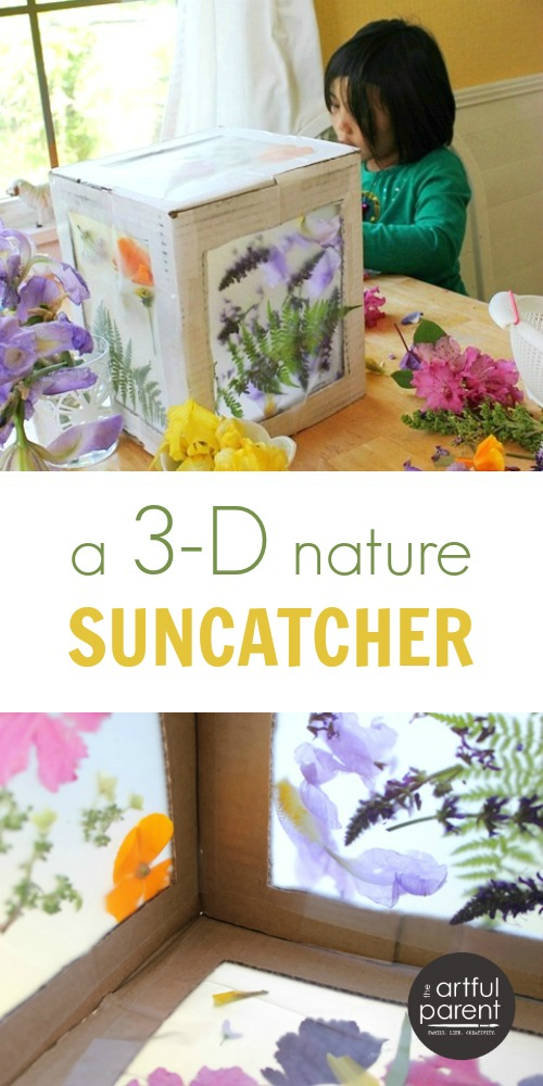 DIY cardboard box suncatcher