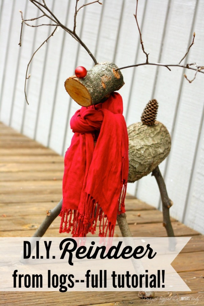 DIY-wooden-log-reindeer