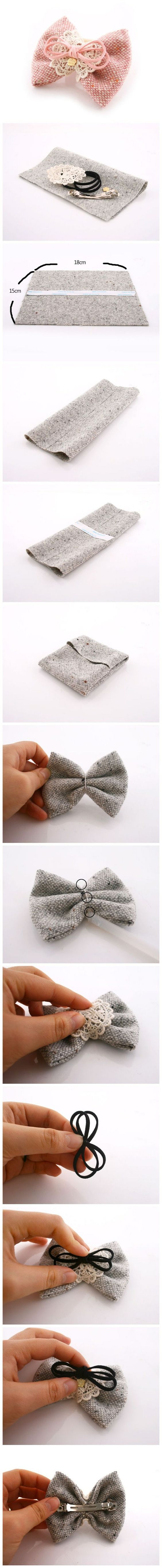 fabric-bows-making