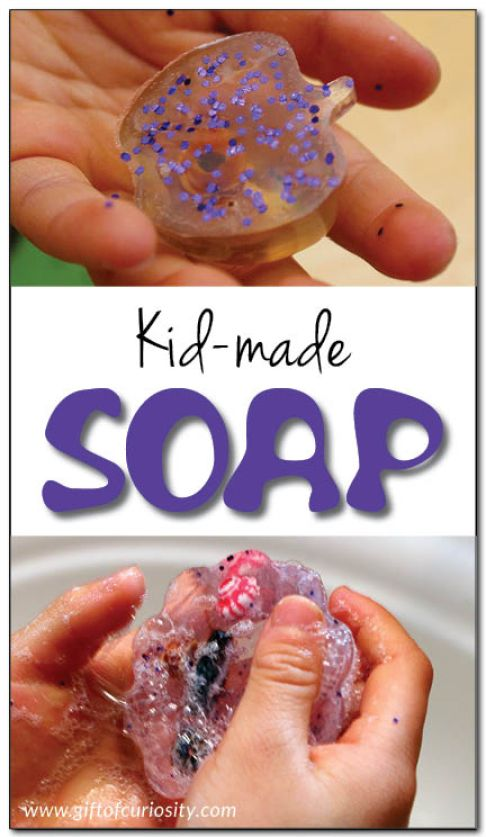 Kid made soap