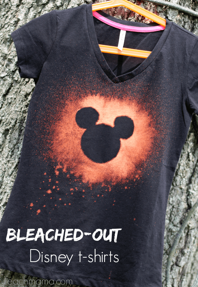 bleached out disney t shirts