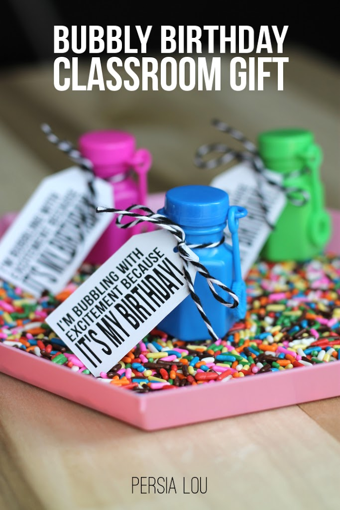 bubbly birthday printable tags