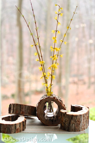 diy-log-slice-vase-with-flowers