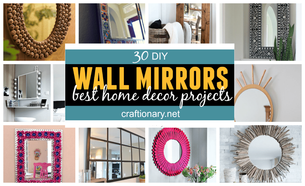 DIY wall mirrors home decor projects