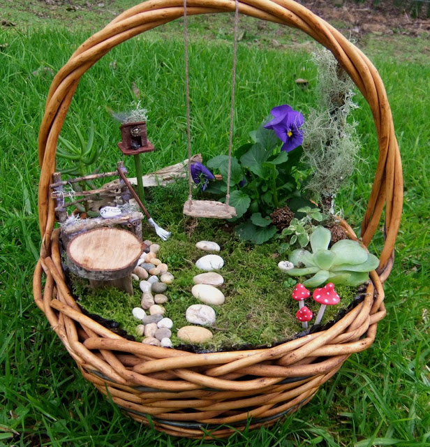 fairy garden basket