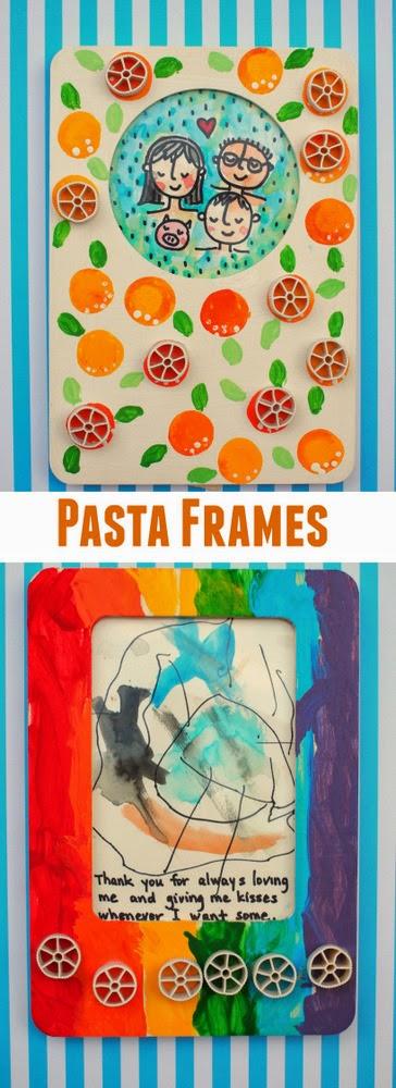 Kid-made-pasta-frame
