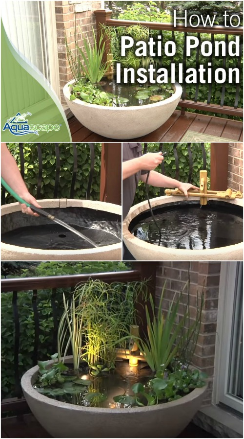 how to create a patio pond DIY water gardens