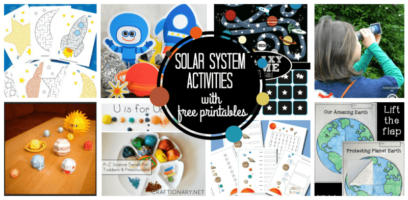 Solar system activities with free printables