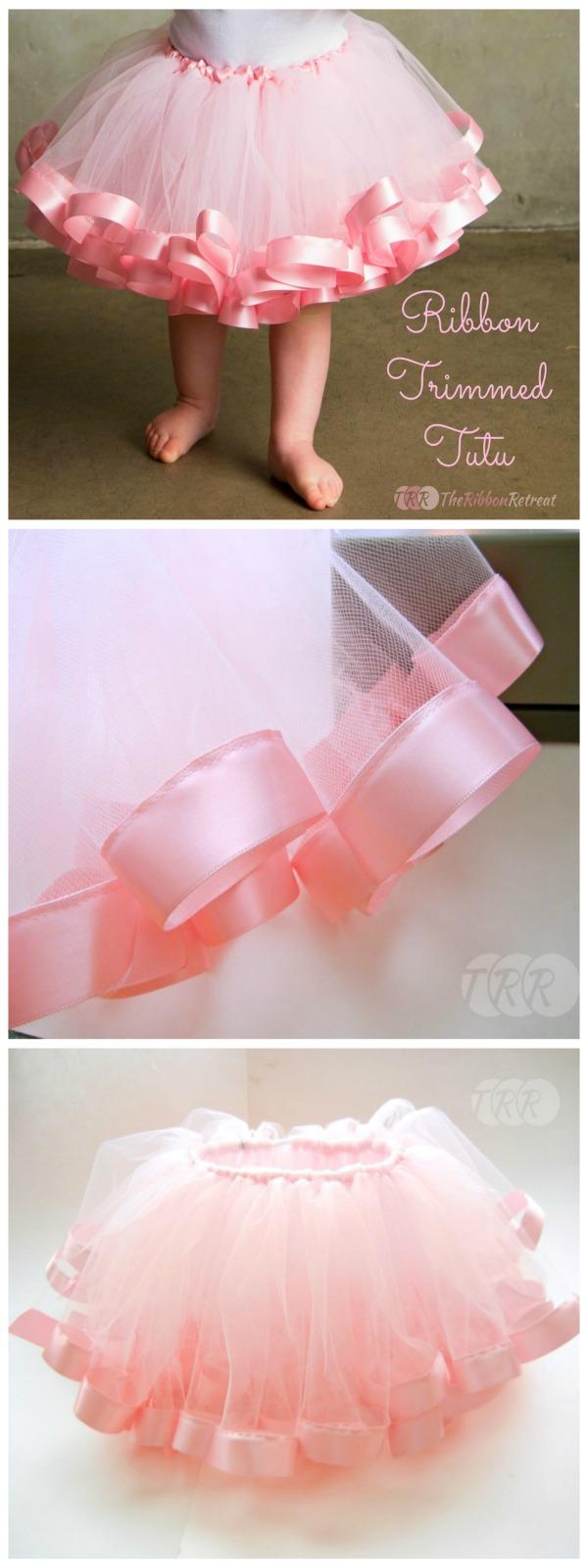 Ribbon trimmed tutu tutorial