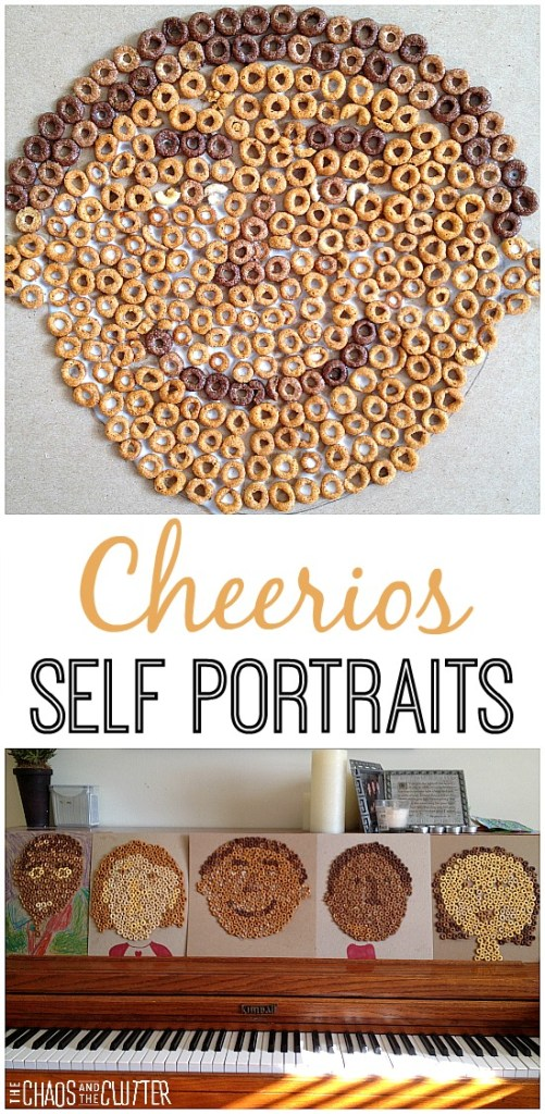 Cheerios kids crafting - making self portraits
