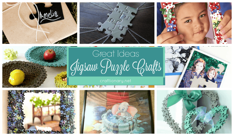 Jigsaw puzzle crafts with ideas to make puzzles and use puzzles to create new things