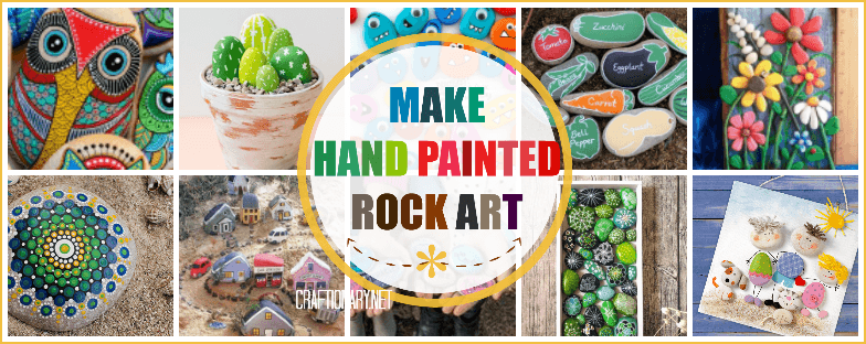 Rock painting stone art ideas #pebblesart #paintedrocks