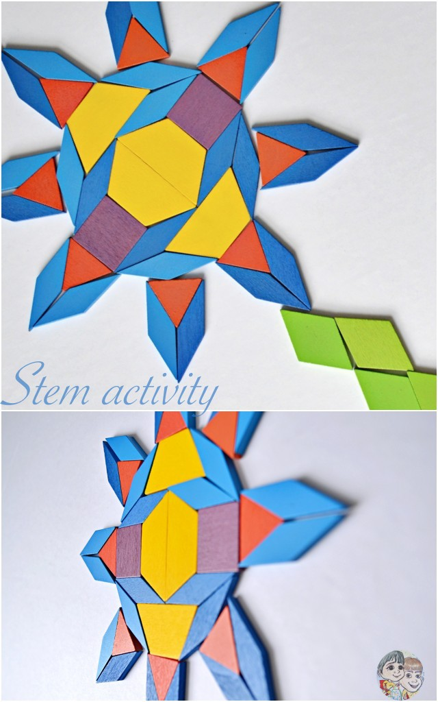 Flower pattern stem activity for kids