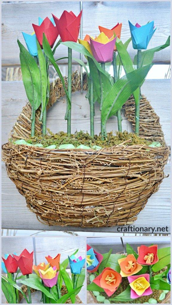 diy-tulip-flowers-hanging-basket-wreath
