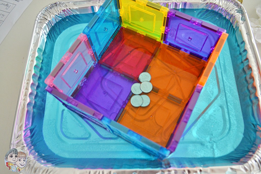 science-kids-steam-activity-magnetic-tiles-in-water-float-boat