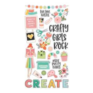 Simple Stories – Hey Crafty Girl 6×12 Chipboard