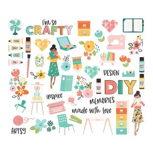 Simple Stories – Hey Crafty Girl Bits & Pieces
