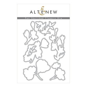 Altenew – Pen Sketched Flowers Die Set