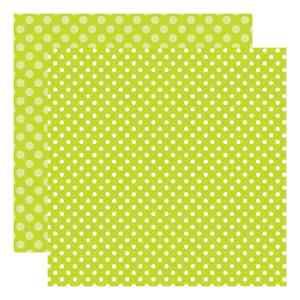 Echo Park Dots & Stripes – Key Lime Dot