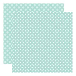 Echo Park Dots & Stripes – Blueberry Dot