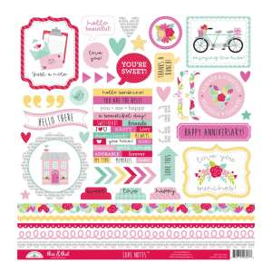 Doodlebug Design – Love Notes This & That Stickers