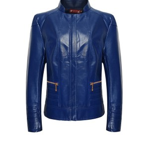 ladies fashion leather jacket