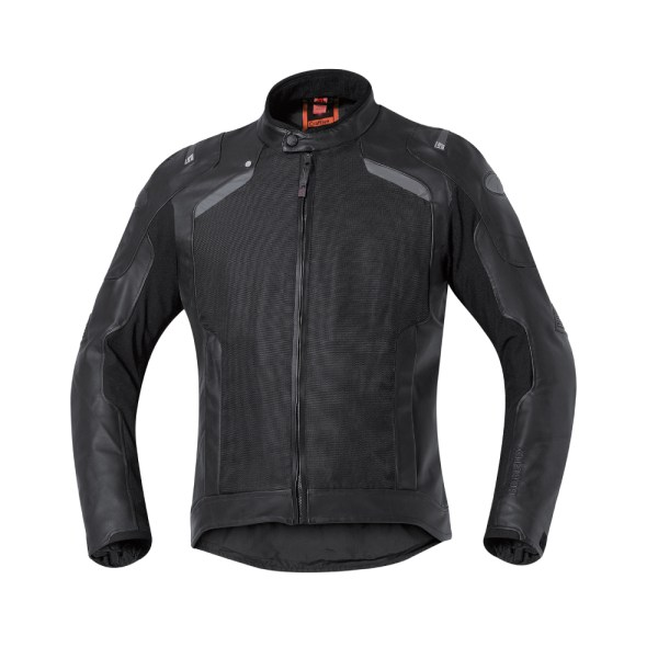 triple layer mens motorcycle leather jacket black