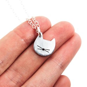 Handmade cat charm necklace